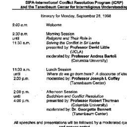 Handouts, 1998-09-28. Confl...