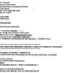 Announcements, 2000-02-07. ...