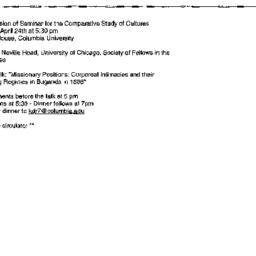 Announcements, 2000-04-24. ...