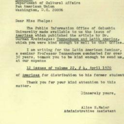 Correspondence, 1970-06-05....