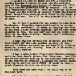 Correspondence, 1970-02-10....