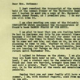 Correspondence, 1970-06-08....
