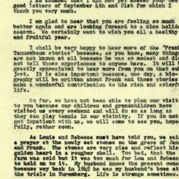 Correspondence, 1970-09-29....