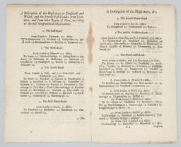 A Discription of the High-ways in England and Wales; Page spread, folios C3-C4