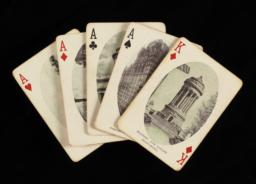 Cards fanned out