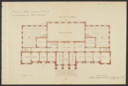 Ground Floor Plan for Belgrade University Library