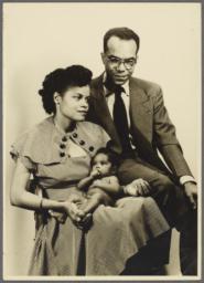 Barbara and Ulysses Kay with Baby Virginia
