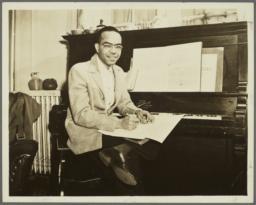 Young Ulysses Kay at Piano