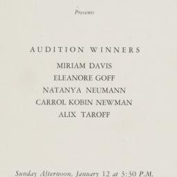 Audition Winners Program
