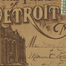 Souvenir Folder of Detroit,...