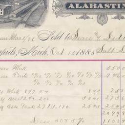 Alabastine Company. Bill
