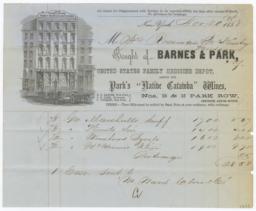 Barnes & Park. Bill - Recto