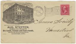 Aug. Steffen. Envelope - Recto