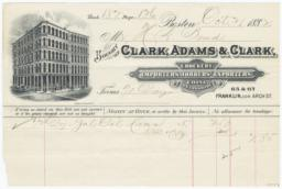 Clark, Adams & Clark. Bill - Recto