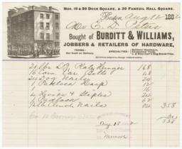 Burditt & Williams. Bill - Recto