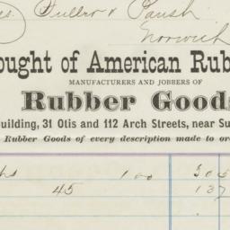 American Rubber Co.. Bill