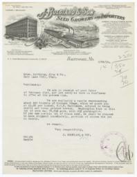 J. Bolgiano & Son. Letter - Recto