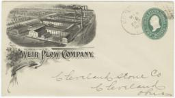 Weir Plow Company. Envelope - Recto