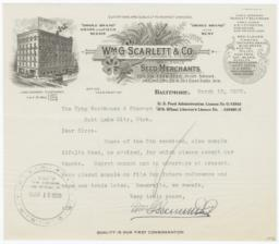 Wm. G. Scarlett & Co.. Letter - Recto