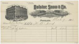 Bolster, Snow & Co.. Bill - Recto