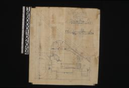 Plan of property\, elevations of property looking north (section A-A) and looking east on pool axis :Sheet no. 1. (2)