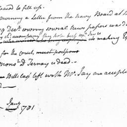 Document, 1781 January 25