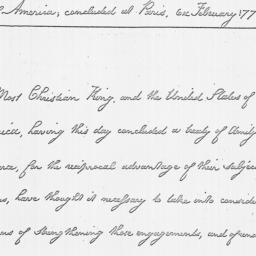 Document, 1778 February 06