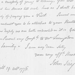 Document, 1776 October 19