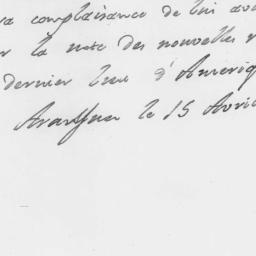 Document, 1780 April 15