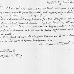 Document, 1816 November 29