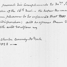 Document, 1822 February 25