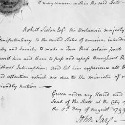 Document, 1799 August 05