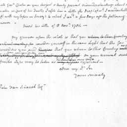 Document, 1784 November 21
