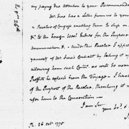 Document, 1775 October 26