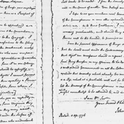 Document, 1776 April 11