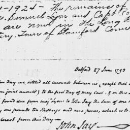 Document, 1793 June 27