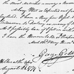 Document, 1779 August 21