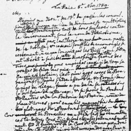 Document, 1789 November 08