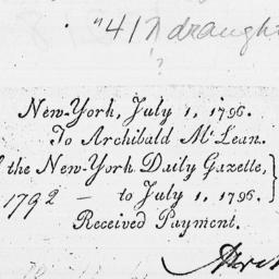 Document, 1796 July 01