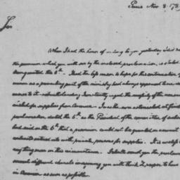 Document, 1789 November 8