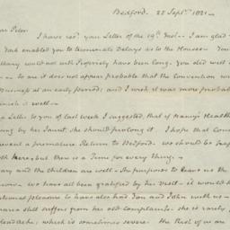 Document, 1821 September 25