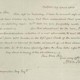 Document, 1823 April 29