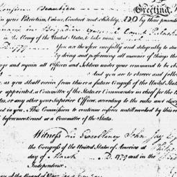 Document, 1779 March 03