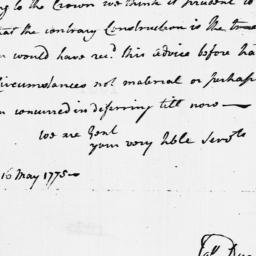 Document, 1775 May 16